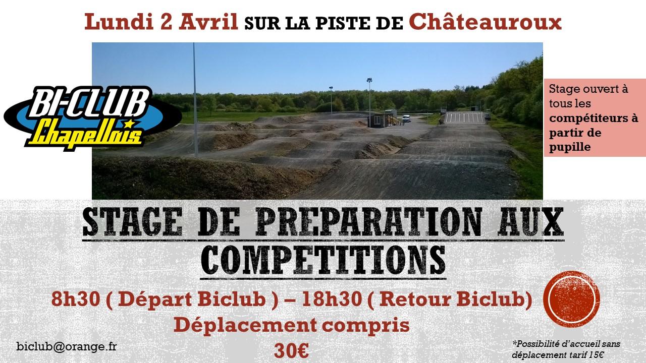 Stage de préparation championnat régional Chateauroux