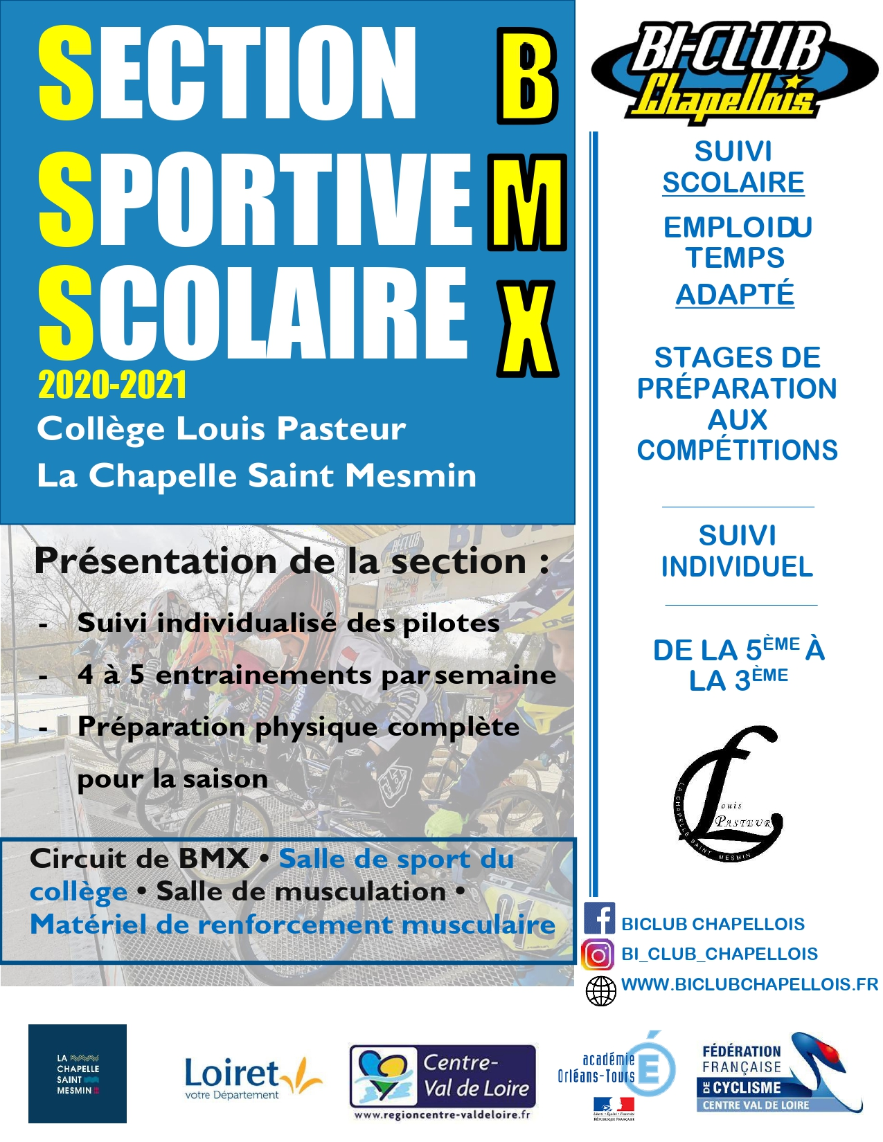 Flyer section sportive scolaire