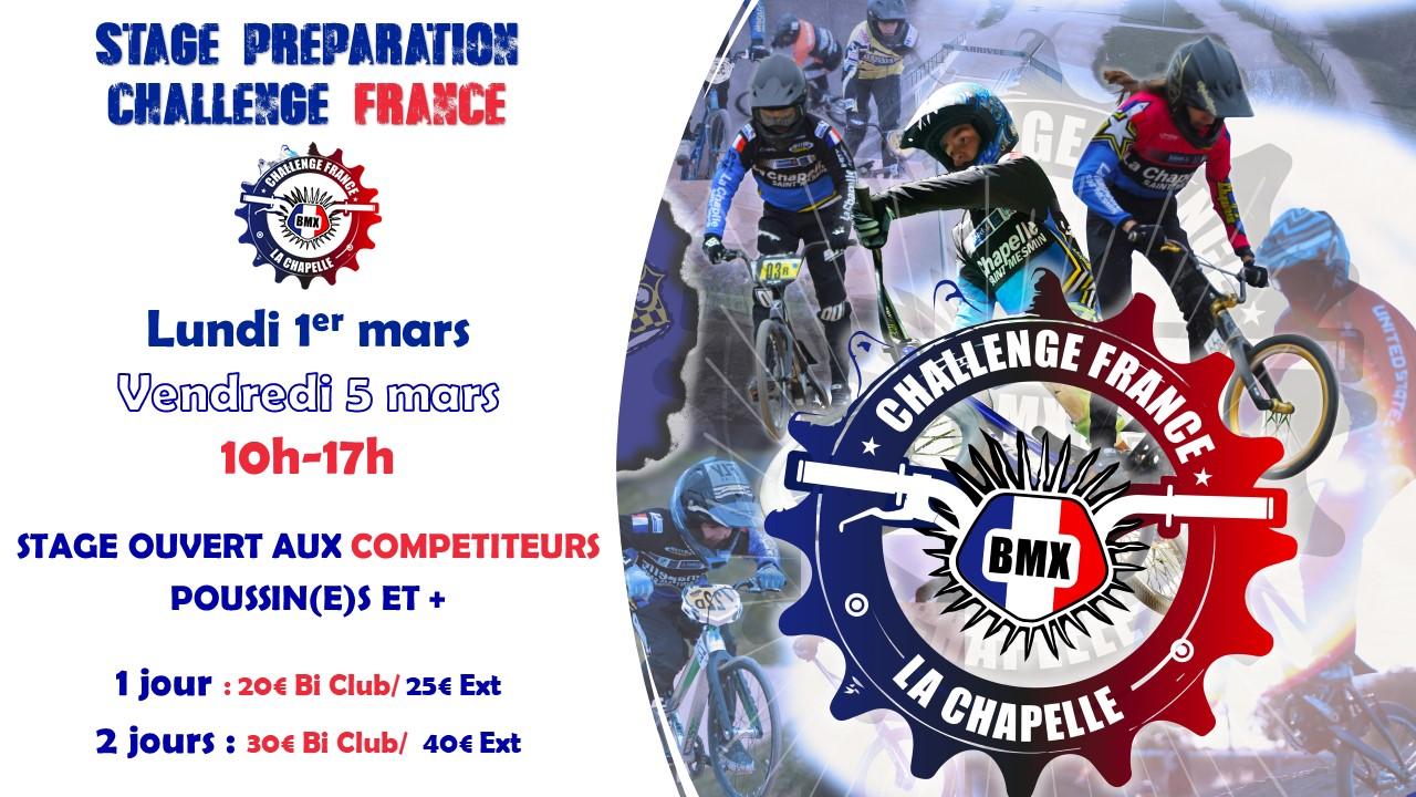 Affiche Stage Challenge France à La Chapelle